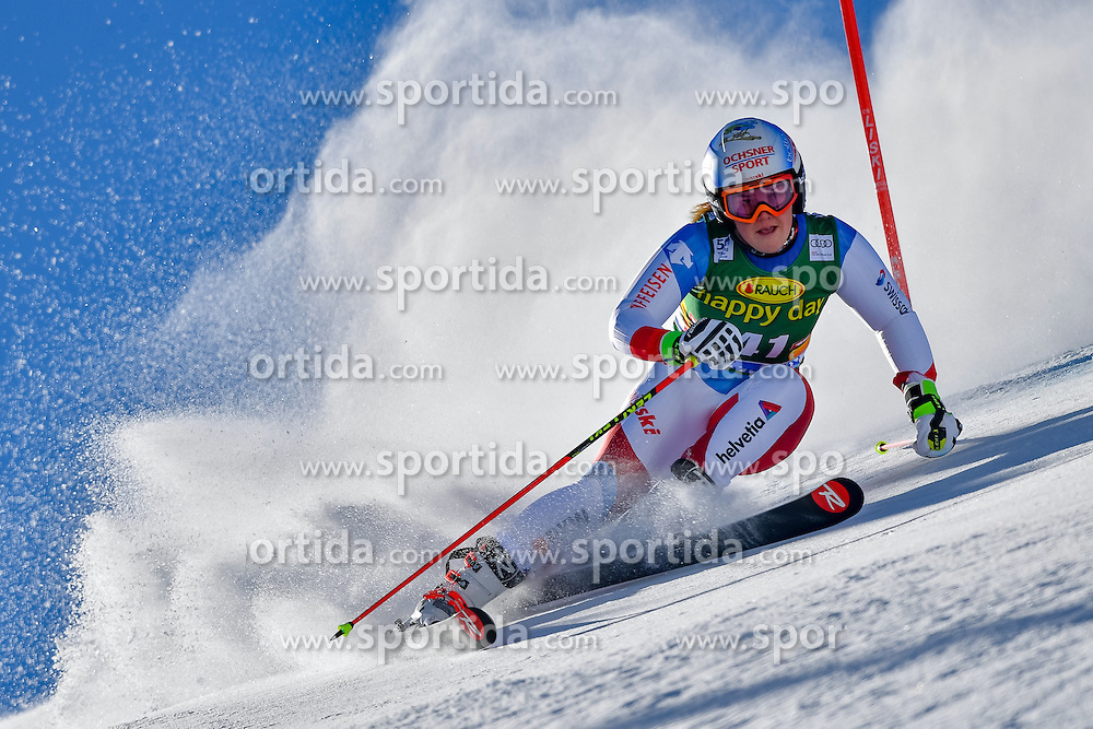 22.10.2016, Rettenbachferner, Soelden, AUT, FIS Weltcup Ski Alpin, Soelden, Riesenslalom, Damen, 1. Durchgang, im Bild Melanie Meillard (SUI) // Melanie Meillard of Switzerland in action during 1st run of ladies Giant Slalom of the FIS Ski Alpine Worldcup opening at the Rettenbachferner in Soelden, Austria on 2016/10/22. EXPA Pictures &copy; 2016, PhotoCredit: EXPA/ Nisse Schmid<br /> <br /> *****ATTENTION - OUT of SWE*****