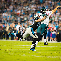 The Philadelphia Eagles at Carolina Panthers football game in Charlotte, North Carolina October 25, 2015.<br /> Walter G. Arce Sr./ASP Inc./Athlon Sports