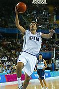 ATENE, 23 AGOSTO 2004<br /> OLIMPIADI ATENE 2004<br /> BASKET<br /> ITALIA - ARGENTINA<br /> NELLA FOTO: MASSIMO BULLERI<br /> FOTO CIAMILLO