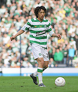 Celtic's Shunsuke Nakamura during the League Cup final between Rangers and Celtic at Hampden Park -<br /> David Young Universal News And Sport