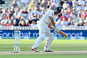 Alastair Cook of England opens the batting during second day of the Specsavers International Test Match 2018 match between England and India at Edgbaston, Birmingham, United Kingdom on 2 August 2018. Picture by Graham Hunt.