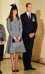 The Duke and Duchess of Cambridge at the ANZAC Day March and Commemorative Service at the Australian War Memorial in Canberra, Australia, Friday, 25th April 2014. Picture by Stephen Lock / i-Images