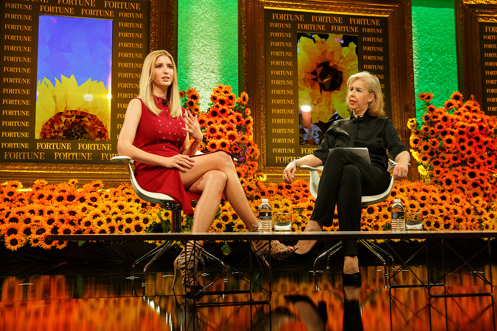 Ivanka Trump, daughter of Republican Presidential Nominee Donald Trump, speaks with with Nancy Gibbs, Editor-in-Chief of TIME Magazine, during the Fortune Most Powerful Women Summit in Dana Point, California, U.S., on Wednesday, October 19, 2016. The summit brings preeminent women in business and leadership together for discussions and high-level networking. © 2016 Patrick T. Fallon