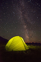 Milkyway above Easton Kilo 3P tent, Hyndman Basin, Pioneer Mountains, Idaho.