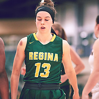 2nd year guard, Faith Reid (13) of the Regina Cougars during the Women's Basketball Home Game on Sat Dec 01 at Centre for Kinesiology,Health and Sport. Credit: Arthur Ward/Arthur Images