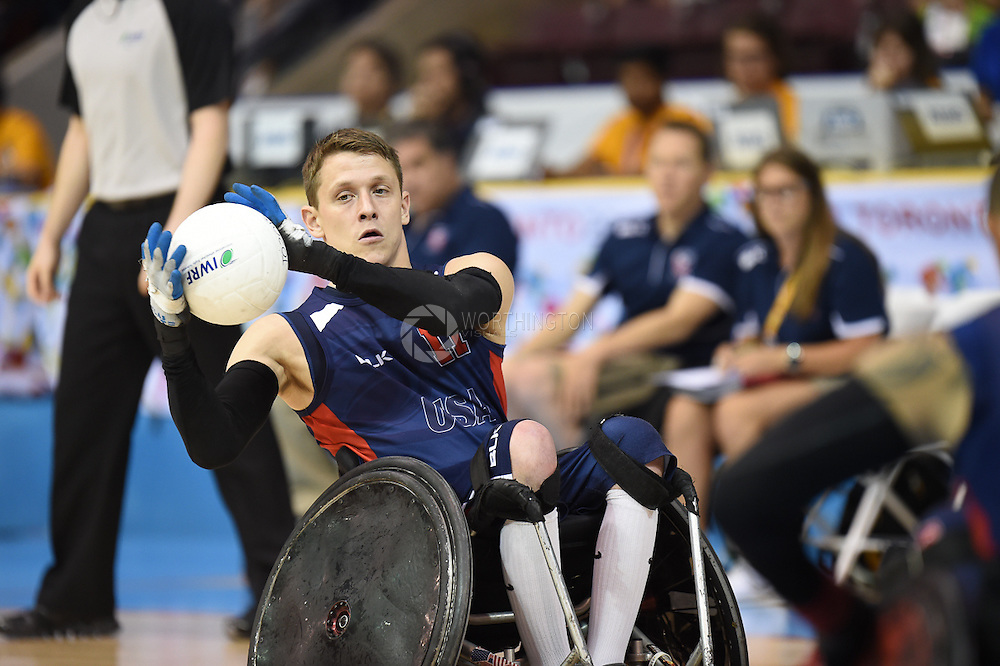 Images from Team USA's double overtime win in the 2015 Parapan Games in Wheelchair Rugby.