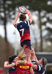 Poppy Leitch of Bristol Bears Women in action in a line out - Mandatory by-line: Paul Knight/JMP - 01/12/2018 - RUGBY - Shaftesbury Park - Bristol, England - Bristol Bears Women v Harlequins Ladies - Tyrrells Premier 15s