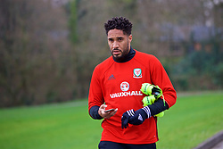 CARDIFF, WALES - Thursday, March 23, 2017: Wales' captain Ashley Williams arrives for a training session at the Vale Resort ahead of the 2018 FIFA World Cup Qualifying Group D match against Republic of Ireland. (Pic by David Rawcliffe/Propaganda)