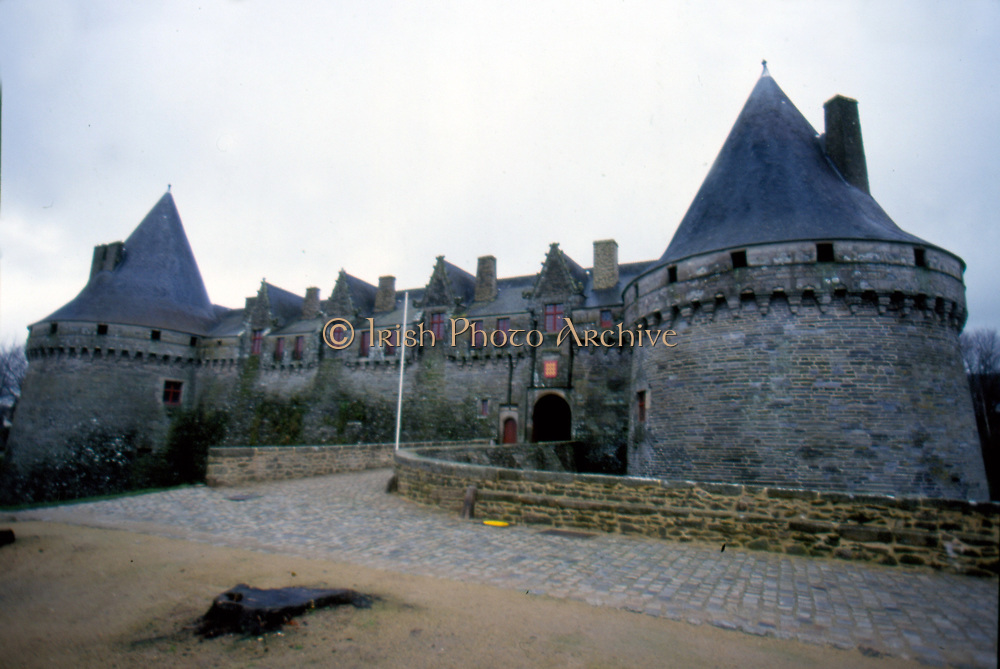 France, Brittany.  Pontivy Chateau.