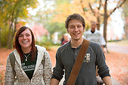 19096Campus Fall...Kristina Kercher and Zachary Small