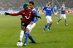 06.11.2011, AWD-Arena, Hannover, GER, 1.FBL, Hannover 96 vs FC Schalke 04, im Bild  Didier Ya Konan (Hannover #11) und  Joel Matip (Schalke #32) .// during the match from GER, 1.FBL, Hannover 96 vs  FC Schalke 04 on 2011/11/06, AWD-Arena, Hannover, Germany. .EXPA Pictures © 2011, PhotoCredit: EXPA/ nph/  Schrader       ****** out of GER / CRO  / BEL ******