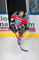 KELOWNA, CANADA - NOVEMBER 3:   Tyrell Goulbourne #12 of the Kelowna Rockets earns a star of the game against the Prince George Cougars at the Kelowna Rockets on November 3, 2012 at Prospera Place in Kelowna, British Columbia, Canada (Photo by Marissa Baecker/Shoot the Breeze) *** Local Caption ***