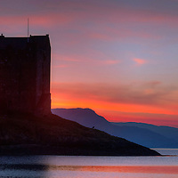 Castle Stalker and Loch Linnhe, Argyll and Bute, Scotland