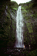 Waterfall in Kipahulu, Maui. USA.
