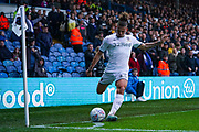Leeds United midfielder Kalvin Phillips (23) takes a corner during the EFL Sky Bet Championship match between Leeds United and Queens Park Rangers at Elland Road, Leeds, England on 2 November 2019.