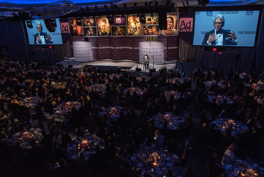Ad Council Awards Dinner 2017 honoring Paul Polman at the Hilton Hotel in New York City Nov 30, 2017. Photo Ken Cedeno