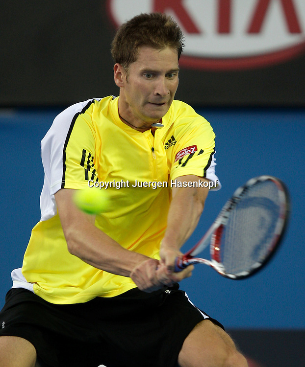 Australien, Melbourne, Sport, Tennis, Grand Slam Tournament, Melbourne Park, Australian Open 2009,..Florian Mayer (GER)....Foto: Juergen Hasenkopf..