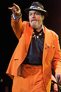 Dr. John performing at a concert to commemorate the Hurricane Katrina disaster was held at the New Orleans Arena.