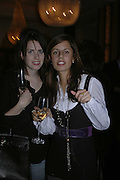 Holly White and Victoria-Anne Bull , Charles Finch and Weidenfeld and Nicolson host a party to celebrate the publication of 'Dancing Into Battle' by Nick Foulkes. The Westbury Hotel, Conduit St. London. 14 December 2006. ONE TIME USE ONLY - DO NOT ARCHIVE  © Copyright Photograph by Dafydd Jones 248 CLAPHAM PARK RD. LONDON SW90PZ.  Tel 020 7733 0108 www.dafjones.com