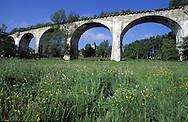 BEL, Belgium, Eastbelgium, Ambleve, old railway viaduct in Born.....BEL, Belgien, Ostbelgien, Amel, altes Eisenbahnviadukt bei Born...