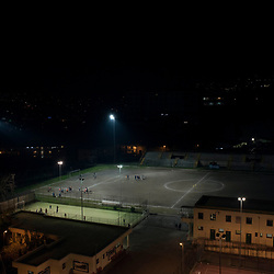 A view of a footbal field in the outskirt of Naples.