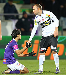 12.12.2015, Generali Arena, Wien, AUT, 1. FBL, FK Austria Wien vs Cashpoint SCR Altach, 20. Runde, im Bild Roi Kehat (FK Austria Wien) und Patrick Seeger (Cashpoint SCR Altach) // during Austrian Football Bundesliga Match, 20th Round, between FK Austria Vienna and Cashpoint SCR Altach at the Generali Arena, Vienna, Austria on 2015/12/12. EXPA Pictures © 2015, PhotoCredit: EXPA/ Thomas Haumer