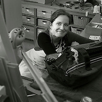 Kai Toenjes, luthier and Claire Dugue, Hurdy-Gurdy maker, Ramsgate, Kent