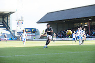 16th September 2017, Dens Park, Dundee, Scotland; Scottish Premier League football, Dundee versus St Johnstone; Dundee's Sofien Moussa scores from the penalty spot for 3-1