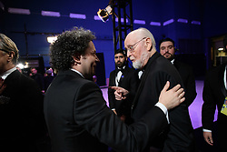 Gustavo Dudamel and John Williams backstage during the live ABC Telecast of The 91st Oscars® at the Dolby® Theatre in Hollywood, CA on Sunday, February 24, 2019.