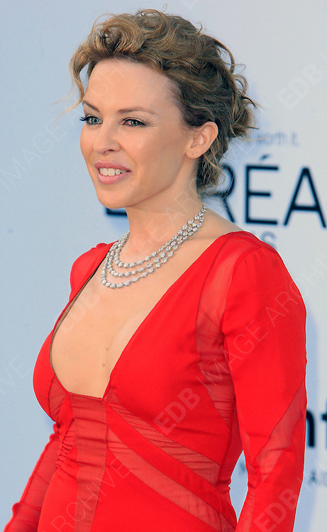 24.MAY.2012. CANNES<br /> <br /> KYLIE MINOGUE AT THE AMFAR CINEMA AGAINST AIDS 2012 DURING THE CANNES FILM FESTIVAL, CANNES, FRANCE.<br /> <br /> BYLINE: EDBIMAGEARCHIVE.CO.UK<br /> <br /> *THIS IMAGE IS STRICTLY FOR UK NEWSPAPERS AND MAGAZINES ONLY*<br /> *FOR WORLD WIDE SALES AND WEB USE PLEASE CONTACT EDBIMAGEARCHIVE - 0208 954 5968*