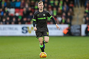 Forest Green Rovers Nathan McGinley(19) on the ball during the EFL Sky Bet League 2 match between Cheltenham Town and Forest Green Rovers at Jonny Rocks Stadium, Cheltenham, England on 29 December 2018.