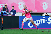 Marvin O Connor (Stade Francais Paris) scored a try from the ball gave by Jonathan DANTY (Stade Francais) during the French Championship Top 14 Rugby Union match between Stade Francais and Stade Rochelais, on September 2, 2017 at Jean Bouin stadium in Paris, France - Photo Stephane Allaman / ProSportsImages / DPPI