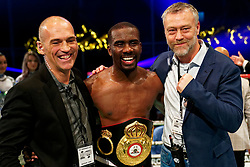 17-11-2019 NED: World Port Boxing Danyo - Mansouri, Rotterdam<br /> 3rd World Port Boxing in Excelsior Stadion Rotterdam / Stephen Danyo win the WBA Continental titel against Englishman Navid Mansouri after 12 rounds. Manager Leon Aertgeerst (l)