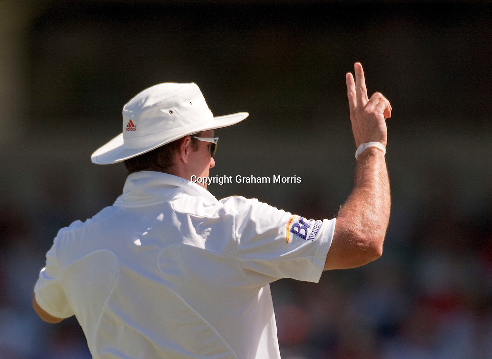 Maybe captain Andrew Strauss smells victory during the third Ashes test match between Australia and England at the WACA (West Australian Cricket Association) ground in Perth, Australia. Photo: Graham Morris (Tel: +44(0)20 8969 4192 Email: sales@cricketpix.com) 18/12/10