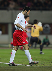 VIENNA, AUSTRIA - WEDNESDAY MARCH 30th 2005: Wales' Ryan Giggs looks dejected after losing 1-0 to Austria during the World Cup Qualifying Group Six match at the Ernst Happel Stadium. (Pic by David Rawcliffe/Propaganda)