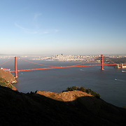 A general overview of the Golden Gate Bridge from the Marin Headlands in San Francisco, California on Saturday, Sept. 17, 2011. The Golden Gate Bridge is undergoing a re-painting of the main support cables for the first time in 75 years and is expected to be completed by 2015.(AP Photo/Alex Menendez) Golden Gate Bridge in San Francisco, California. Golden Gate Bridge in San Francisco, California.