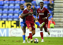 Pedro Chirivella of Liverpool takes on Gavin Massey of Wigan Athletic - Mandatory by-line: Robbie Stephenson/JMP - 14/07/2017 - FOOTBALL - DW Stadium - Wigan, England - Wigan Athletic v Liverpool - Pre-season friendly