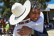 SO Poland athlete Marta Borowska gets congratulations while equestrian competition during eighth day of the Special Olympics World Games Los Angeles 2015 on August 1, 2015 at Equestrian Centre Riverside Drive Burbank in Los Angeles, USA.<br /> USA, Los Angeles, August 1, 2015<br /> <br /> Picture also available in RAW (NEF) or TIFF format on special request.<br /> <br /> For editorial use only. Any commercial or promotional use requires permission.<br /> <br /> Adam Nurkiewicz declares that he has no rights to the image of people at the photographs of his authorship.<br /> <br /> Mandatory credit:<br /> Photo by &copy; Adam Nurkiewicz / Mediasport