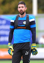 Sam Russell of Forest Green Rovers warms up -Mandatory by-line: NizaamJones/JMP- 14/10/2017 - FOOTBALL - New Lawn Stadium - Nailsworth, England - Forest Green Rovers v Newport County - Sky Bet League Two
