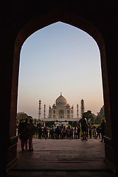 A key hole view of the Taj Mahal, Agra, India,