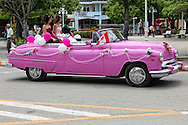 Old American car in Holguin, Cuba.