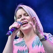 Louise Dearman perfroms at West End Live 2019 in Trafalgar Square, on 22 June 2019, London, UK.