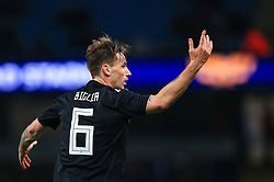 Lucas Biglia of Argentina reacts - Mandatory by-line: Matt McNulty/JMP - 23/03/2018 - FOOTBALL - Etihad Stadium - Manchester, England - Argentina v Italy - International Friendly