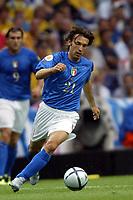 PORTO 18/6/2004 Euro2004 <br />ITALIA SWEDEN<br />ANDREA PIRLO<br />Photo Andrea Staccioli Graffiti