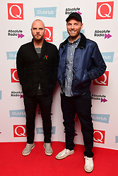 Will Champion and Jonny Buckland of Coldplay attending the Stubhub Q Awards 2016, in association with Absolute Radio, at the Roundhouse, London.