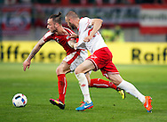 Marko Arnautovic of Austria and Clifford Baldacchino of Malta during the International Friendly match at Worthersee Stadion, Klagenfurt, Austria.<br /> Picture by EXPA Pictures/Focus Images Ltd 07814482222<br /> 31/05/2016<br /> ***UK &amp; IRELAND ONLY***<br /> EXPA-JAN-160531-5332.jpg