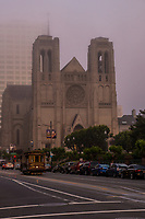 Grace Cathedral & California Street Cable Car