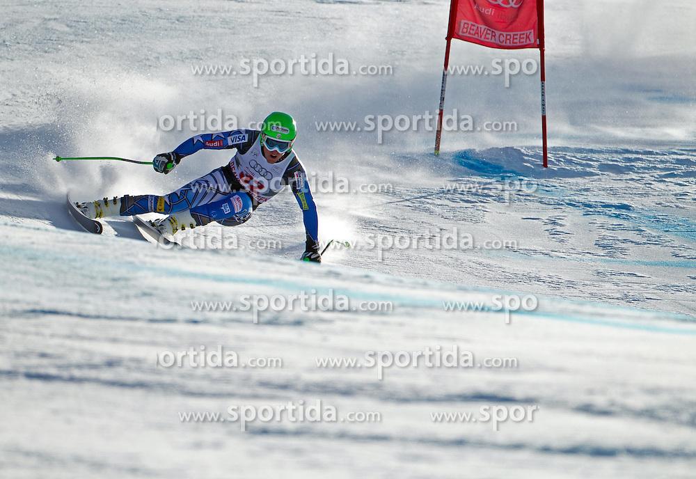 02.12.2011, Birds of Prey, Beaver Creek, USA, FIS Weltcup Ski Alpin, Abfahrt Herren, im Bild  U.S. Ski Team Athlete Ted Ligety during a men downhill race at FIS alpine Ski Worldcup on the Birds of Prey downhill course at Beaver Creek, USA on 2011/12/02