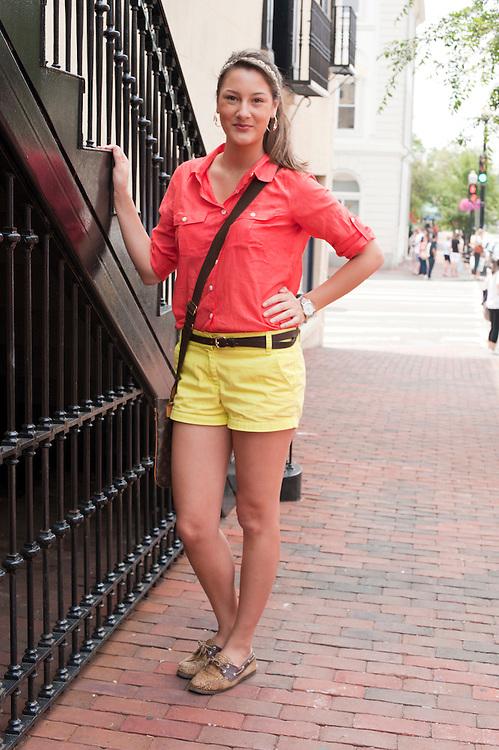 Georgetown, Washington, DC - June 2011 - Sibel Kayaalp photographed on the streets of Georgetown.