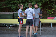 Lucerne, SWITZERLAND, 12th July 2018, Thursday, Swiss, Chief Coach, Robin DOWELL,  FISA World Cup III, Lake Rotsee, © Peter SPURRIER,